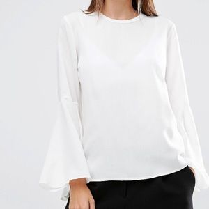 ASOS Tops - ASOS white blouse with bell sleeves too